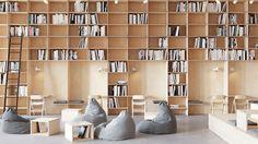 Gelato on Behance Cafe Interior Design, Cafe Design, Interior Architecture, Bookstore Design, Library Design, Library Cafe, Hospital Design, Book Cafe, Clinic Design