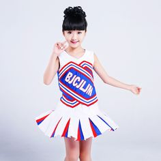 White Children Primary School Uniforms Set Girl Cheerleader Cheer Leaders Costume Kid Aerobics Clothing Girls Uniforms