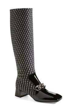 Prada Tweed Boot (Women) available at #Nordstrom