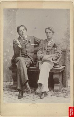 Oscar Wilde and Lord Alfred Douglas, both Libra. Oscar was born October 16, 1854 with his moon in Leo, and Lord Alfred was born October 22, 1870 with his moon in either Virgo or Libra.