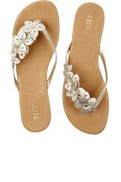 cut out flower sandals