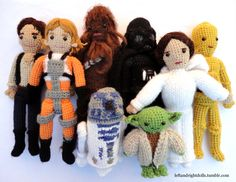 May the Force be With You by leftandrightdolls. Star Wars amigurumis. Inspiration