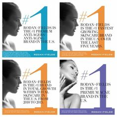 Rodan and Fields is celebrating that 2015 brought:  629.6 million in gross sales We became #1 in premium ANTI-AGING skincare #1 in premium ACNE skincare #2 in premium skincare OVERALL Fastest growing premium skincare company for last five years.  This company and these products are AMAZING!! My only regret is I didn't start sooner. Only products that work go from introduction to the market to #1 in only 8 years, surpassing well respected brands that have had 40 - 50 years head start!