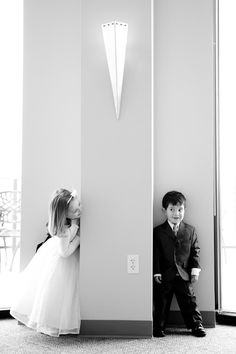 love pics of the ring bearer and flower girl! by marla