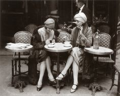 Women Sitting at a Cafe Terrace