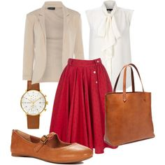 Minus the ugly shoes, bag and watch. I SO need this for work.