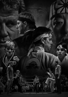 The Karate Kid and Cobra Kai Karate Kid Cobra Kai, The Karate Kid 1984, Karate Kid Movie, Karate Karate, Cobra Kai Wallpaper, Cobra Kai Dojo, William Zabka, Kempo Karate, Kai Arts