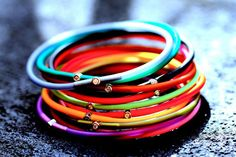colorfull #My_First_Diamond #diamond #colors #neon #bracelets #laluna #jewerly #accessorizes #musthave #trends