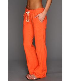 Roxy Ocean Side Pant Pop Orange - Zappos.com....i cant own sweat pants like these... i would never leave them...