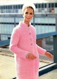 1960's unbelievable in the degree of awesomeness pink coat  via My Vintage Vogue.