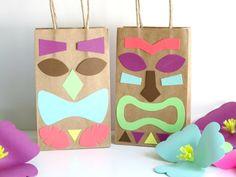 Luau Party Decorations Set of 12 DIY Tiki Guys by DesignSprinkle