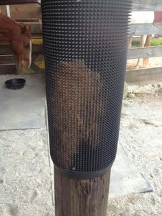 Nice scratching post for the horses More
