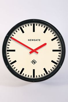 £190 Metro-style wall clock. #clock #wall #time