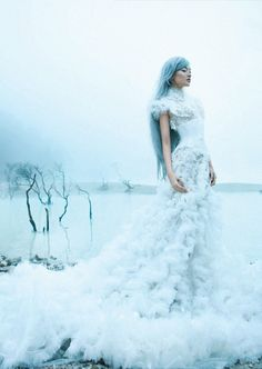 dara warganegara by nicoline patricia malina for dewi inspirasi pernikahan 2012 Fantasy Photography, Fashion Photography, Amazing Photography, Fashion Fotografie, Foto Fantasy, Beauty And Fashion, Snow Fashion, Winter Fashion, Ice Princess