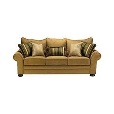 Value City Furniture - Living Room - Barclay Gold Sofa 9 our couch set)