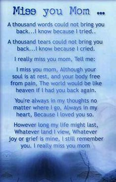 Miss you mom