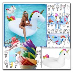 """""""Poolparty"""" by michellelund on Polyvore featuring interior, interiors, interior design, home, home decor, interior decorating and poolfloats"""