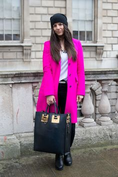 London Fashion Week Street Style Stars Brave the Rain: The cold temperatures, high winds, and constant rain definitely limited our fashion options this London Fashion Week, but that didn't stop some attendees from pulling out all the stops when it came to style.