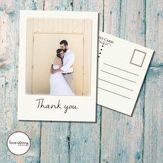 Wedding Thank You Card // Postcard // Vintage // Cream // DIY Printable // Professional Printing // Includes Envelopes and Postage