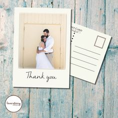 Wedding Thank You Card // Postcard // Vintage // Cream // DIY Printable // Professional Printing // Includes Envelopes and Postage