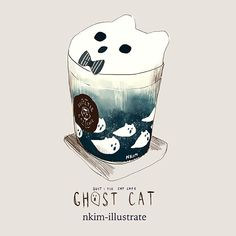 "N*Kim on Twitter: ""Limited time Halloween themed drinks only at the Suit & Tie Cat Cafe! https://t.co/x4F9EjaqzU"""