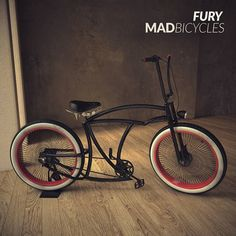 Seems it's Fury's week! Made to measure Hotrod just for You. Contact adam@madbicycles.com #custom #hotrod #bicycle #cruiser #badass #red #pinup #oldschool by madbicycles