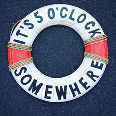 Why wait? It's 5 o'clock somewhere! Get this fun rustic lifebuoy for your home, office or bar. Makes a great gift for someone who already has it all! ❌⭕️ #gift #fun #decor #rustic #newtiquenz