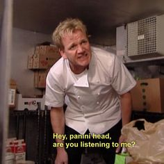 No one can match Gordon's sandwich insults. NO ONE.