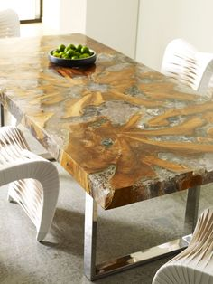 Phillips Collection - Gallery Trendy Furniture, Small Furniture, Dinning Room Tables, Dining Rooms, Epoxy Table Top, Urban Decor, Phillips Collection, Teak Wood, Home Accessories