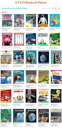 STEM Books and Videos! Perfect for kids of all ages -- from homeschool to extra reading after school! (affiliate)
