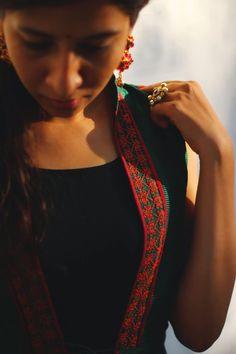 Kasuti embroidered vest from Dori