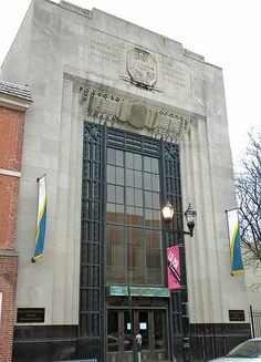 File:Delaware History Research Building, Art Deco Style-Located at 505 North Market Street, a former Artisans Savings Bank branch location houses the library. Tilghman Ware Company built the art deco structure in 1930-31