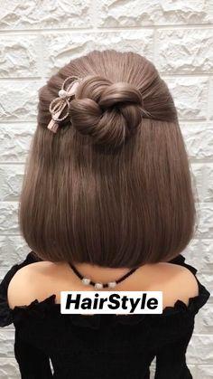 Easy Hairstyles For Long Hair, Diy Hairstyles, Pretty Hairstyles, Hair Up Styles, Hair Videos, Hair Highlights, Hair Looks, Hair Inspiration, Short Hair Hacks