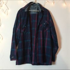 Brandy Melville vintage oversized flannel From the vintage section of Brandy Melville. Oversized fit great for anyone. Super soft and versatile. Flannels are a must for any closet! More on my page Brandy Melville Tops Button Down Shirts
