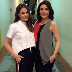 Watch as @beaalonzo and I go head-to-head in #ItsShowtime's #Ansabeh  #colorcoordinate #sistahs #TheLoveAffair movie promo, 2 more days to cinema showing! #ItodoNaTo