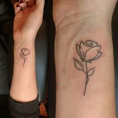 Delicate Rose Sketched Tattoo For Wrist #Minimalisttattoo #Tattoos #Tattooart #Tattooideas #Wristtattoo #Rosetattoo