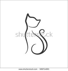 Cat stylized draw