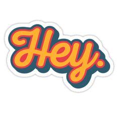 """""""Australian Cattle Dog, Blue Heeler Puppy, """"Hey Cutie"""" by Artwork by AK"""" Stickers by artworkbyak Stickers Cool, Bubble Stickers, Phone Stickers, Printable Stickers, Customized Stickers, Preppy Stickers, Macbook Stickers, Homemade Stickers, Snapchat Stickers"""