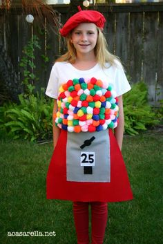 Gumball Machine Halloween Costume - Do it yourself!  It's cheap and easy!