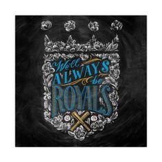 Casey Ligon We'll Always Be Royals Print Kansas City