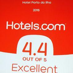 Mais um ano com super nota!! Porto da Ilha Hotel e Hotéis.com  #avaliacao #florianopolis #expedia #hoteis.com #venere #hotelcentro