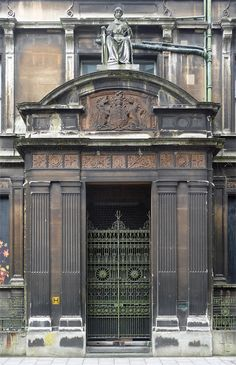 Detail of former police courts, Bridewell Street, Bristol by Stephen Richards, via Geograph Bristol City, Wrought Iron Gates, The Neighbourhood, Cities, Police, England, Victorian, Bath, Spaces