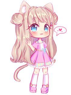 Chibi commission for Tsukaira I hope you like it! Chibi Kawaii, Kawaii Anime Girl, Anime Art Girl, Manga Girl, Anime Neko, Cute Anime Chibi, Arte Do Kawaii, Kawaii Art, Cute Animal Drawings Kawaii