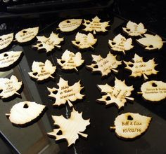 Wood Leaf Wedding Favors Personalized Set of by EtchedinTimeLLC, $120.00