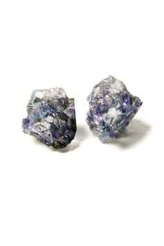 Raw Purple Dyed Quartz Studs