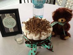Turquoise & Brown baby Shower Baby Shower Party Ideas | Photo 1 of 39 | Catch My Party