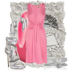 """""""41/50: Silver + Pink"""" by eiluned on Polyvore"""