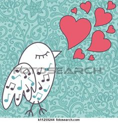 bird-singing-a-love-song Voir Illustration Grand Format