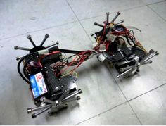Crablike robot walks on walls, ceilings with magnet feet via @CNET