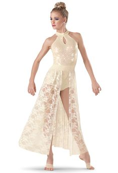 Weissman | Sequin Halter Lace Maxi Dress I love this l! If only it was a different color